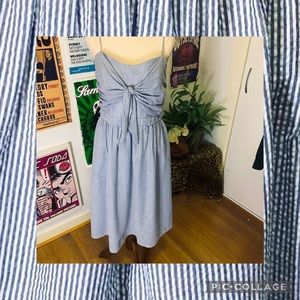*ATMOSPHERE* Blue and White Striped Summer Dress